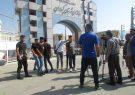 تجمع قهرمانان هندبال به مهمترین ساختمان گچساران رسید
