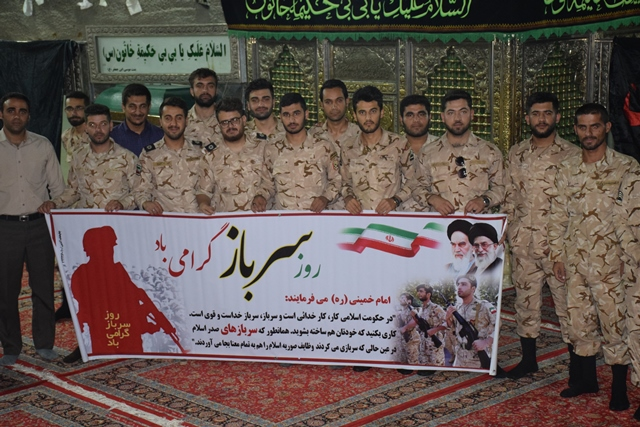 بازدید سربازان ناحیه گچساران از تاسیسات نفتی بیبی حکیمه یک و زیارت آن امامزاده(س)+تصاویر