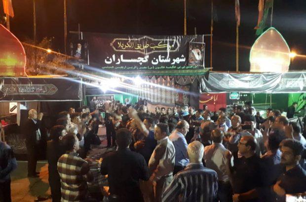 شبی با موکبهای زائران امام حسین(ع) در گچساران+فیلم و تصاویر