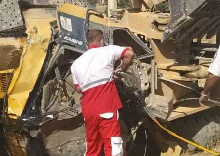 سقوط مرگبار لودر در منطقه شلالدان باشت+تصویر